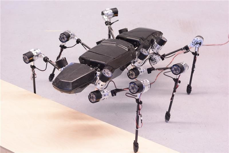 The walking robot Hector took his first steps at the end of 2014. Credit: CITEC/Bielefeld University
