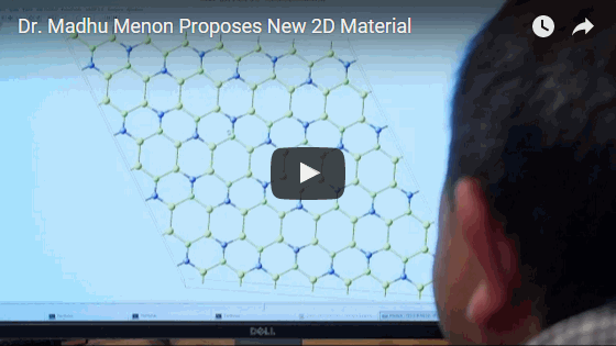 View the video above to hear more about the new material discovered by Menon that could upstage graphene. Video by REVEAL Research Media.