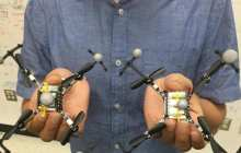 Robots fly in formation while autonomous blimps recognize hand gestures and detect faces