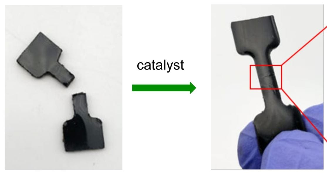 In addition to the highly useful practical applications, the new paper gives detailed fundamental studies on the mechanisms of the rubber repair.