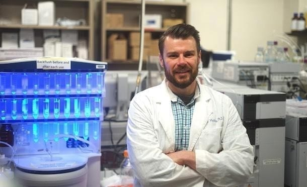 A research team led by Scott Medina, assistant professor of biomedical engineering at Penn State, has developed a small protein that can target a specific pathogen to attach to and destroy without harming good bacteria. IMAGE: THE MEDINA GROUP/PENN STATE