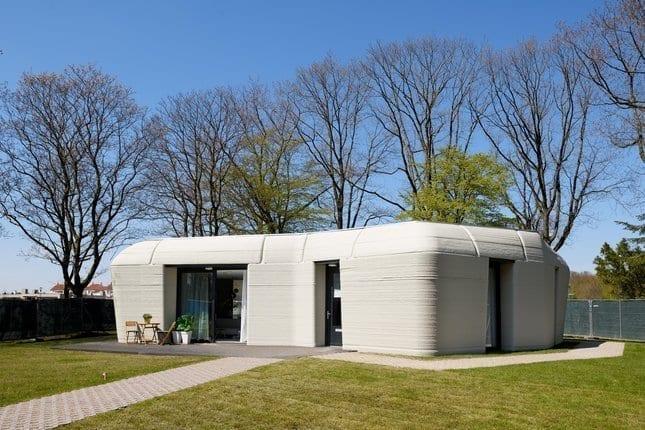 Eerste bewoonde 3D-betongeprinte woning van Project Milestone in Bosrijk, Eindhoven van oa Theo Salet TU/e via Eindhoven University of Technology