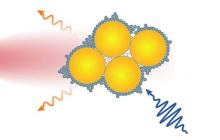 Real-time monitoring of chemical reactions from a tiny camera held together with 'molecular glue'