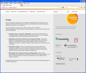 Usability Inside Webseite