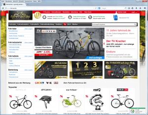 Online-Shop www.fahrrad.de