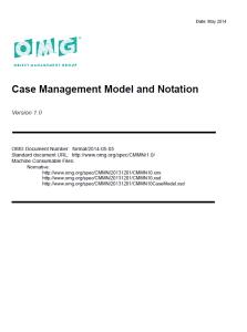 CMMN (Case Management Model and Notation) Spezifikation V1.0