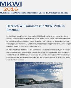 MKWI 2016 in Ilmenau