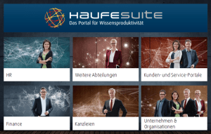 Beispiel für eine Wissensmanagement-Plattform mit Fachdatenbanken: Die Haufe Suite