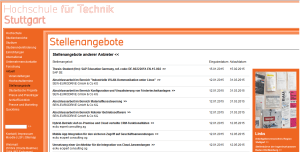 Self-Service-Portal für Unternehmen für Stellenangebote an der HFT Stuttgart