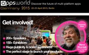 Apps World 2015 in Berlin (22.+23.4.2015)