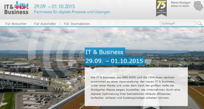 IT & Business 2015 in Stuttgart: Alles rund um Unternehmenssoftware