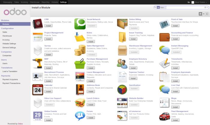 Odoo - Ein OpenSource ERP/CRM-System aus der Cloud mit vielen Features