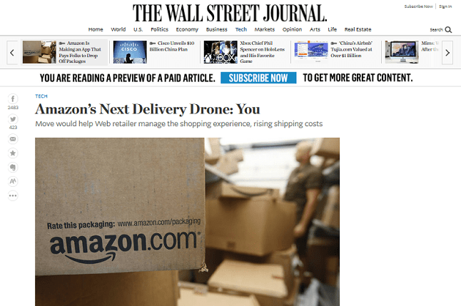 Aus der Gerüchteküche: Amazon On My Way - Privatpersonen als Kuriere ?