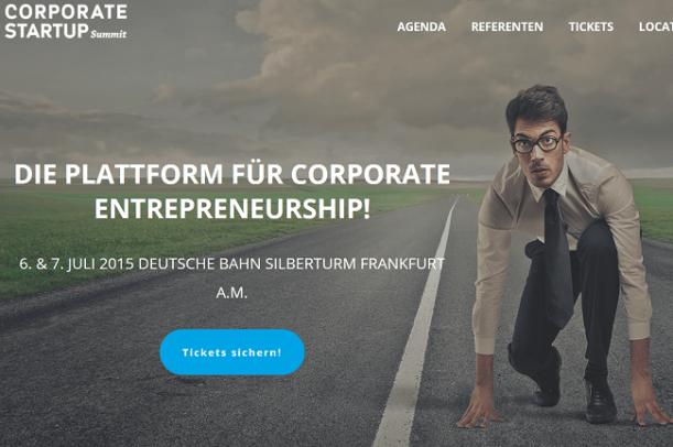 Corporate Startup Summit 2015 am 6. Juli 2015 in Frankfurt