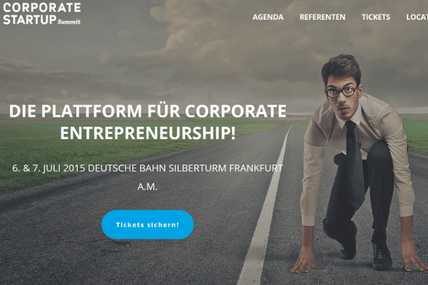 Corporate Startup Summit 2015 am 6. Juli 2015 in Frankfurt