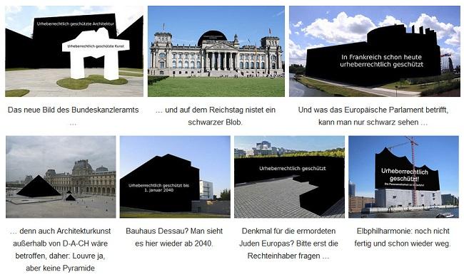 Auswirkungen der Abschaffung der Panoramafreiheit (Quelle: Wikipedia)