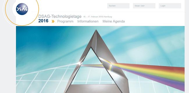 DSAG Technologietage 2016 am 16. und 17. Februar in Hamburg