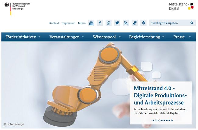 Mittelstand 4.0 - Digitale Produktions- und Arbeitsprozesse - Auschreibung des BMWi