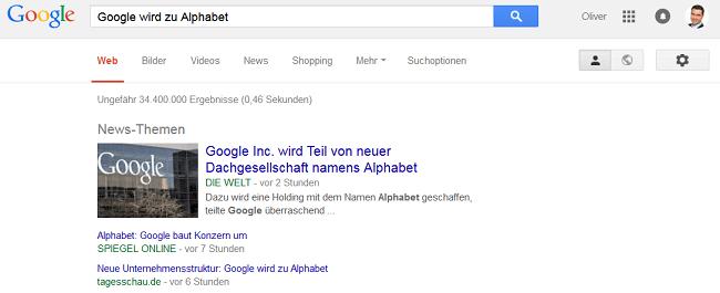 Alphabet wird die neue Google-Holding