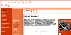 Firmenkontaktmesse KITT 2016 an der HFT Stuttgart