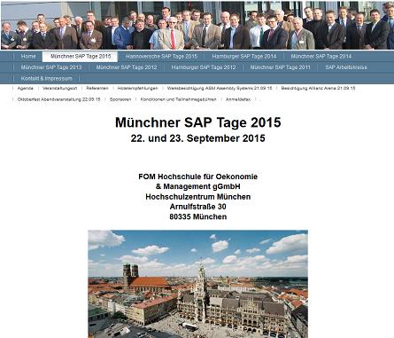 Münchner SAP-Tage 2015 - Oktoberfest und IT am 22.+23. September 2015