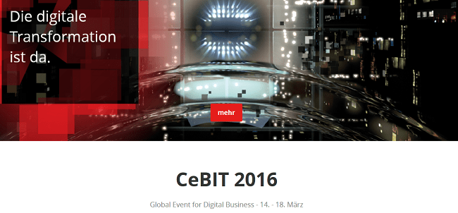 CeBIT 2016: Die Digitale Transformation ist da