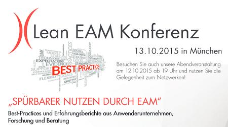 Lean EAM Konferenz am 13.10.2015 in München