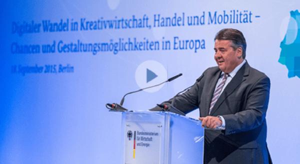 Mittelstand 4.0: BMWi initiiert Kompetenztentren / Agenturen (Bild: Bundesminister Gabriel, Quelle: BMWi)