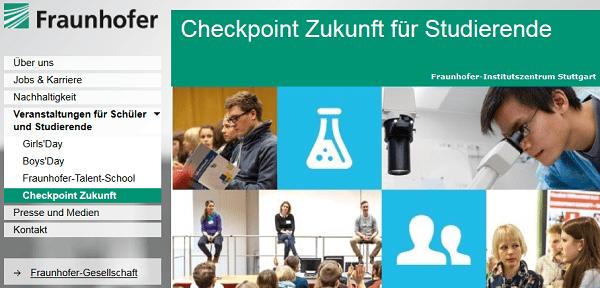 Checkpoint Zukunft 2015: Karriere bei Fraunhofer in Stuttgart