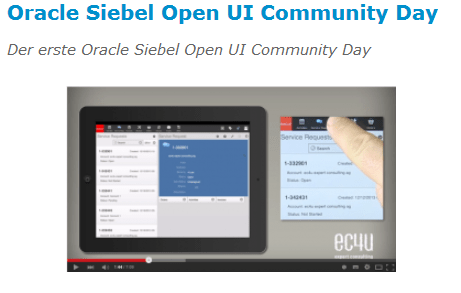 Oracle Siebel Open UI Community Day in Karlsruhe am 16. November 2015