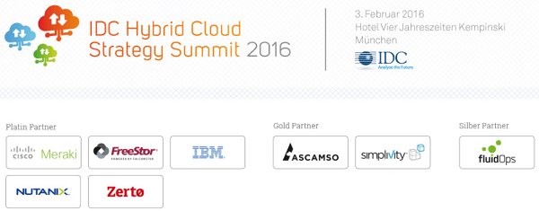 IDC Hybrid Cloud Strategy Summit 2016 in München