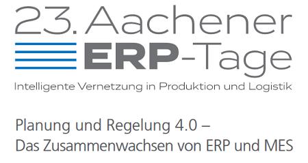 Aachener ERP-Tage 2016 vom 14.-16. Juni 2016 in Aachen