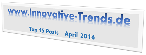 Top 15 Posts im März 2016 auf Innovative Trends