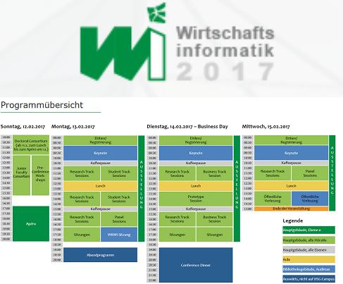 Tagung Wirtschaftsinformatik 2017 in St. Gallen