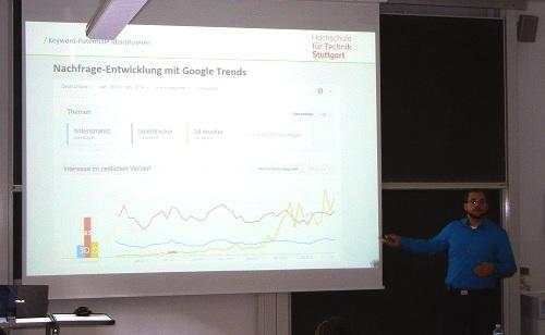 SEO-Experte Tobias Fox von Verdure an der HFT