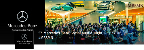 57. Mercedes-Benz Social Media Night am 6.7.