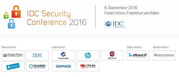 IDC Security Conference 2016 in Frankfurt und Zürich