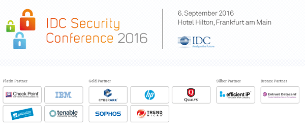 IDC Security Conference 2016 in Frankfurt und Zürich