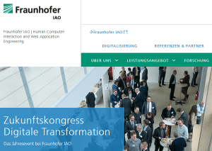 Zukunftskongress Digitale Transformation des Fraunhofer IAO