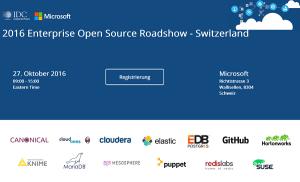 Enterprise Open Source Roadshow Switzerland 2016