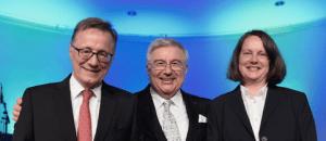 Prof. Dr. Wilhelm Bauer, Prof. Dr. Dieter Spath und Prof. Dr. Anette Weisbecker - Gemeinsame Institutsleitung des Fraunhofer IAO in Stuttgart ab 1.10.2016 (Quelle: Fraunhofer IAO / Wittenstein)