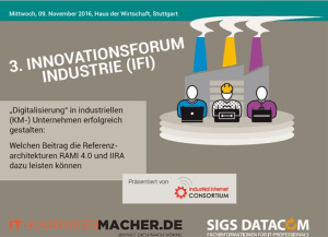 IFI 2016 - Industrie 4.0 Standards und Architekturen