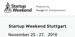 Startup Weekend Stuttgart 2016
