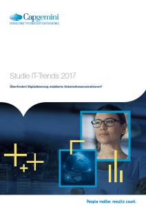 IT-Trends 2017 - Studie von Capgemini