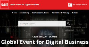 CeBIT 2017 vom 20-24. März in Hannover