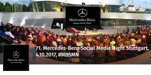 71. Mercedes-Benz Social Media Night am 4.10. im Mercedes-Benz-Museum