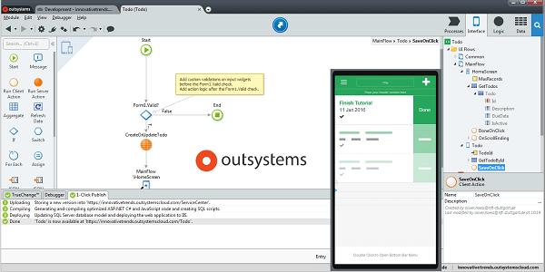 OutSystems: Low-Code-Entwicklungsplattform für Enterprise Apps und responsive Webanwendungen