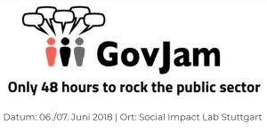 GovJam 2018 am 6.+7. Juni, z.B. in Stuttgart