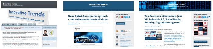 Innovative Trends - Entwicklung im Laufe der Zeit