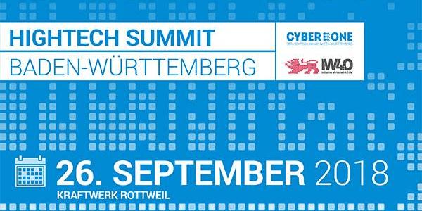 Hightech Summit Baden-Württemberg 2018 in Rottweil (Wirtschaft 4.0, Digitalisierung und CyberOne)